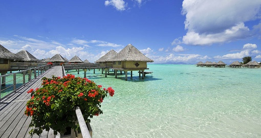 Escape to your overwater bungalow