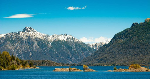 Glacial Lake Nahuel Huapi is known for it's crystal blue waters