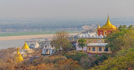 Visit Sagaing Hill and discover beautiful sites on your Myanmar Vacation.