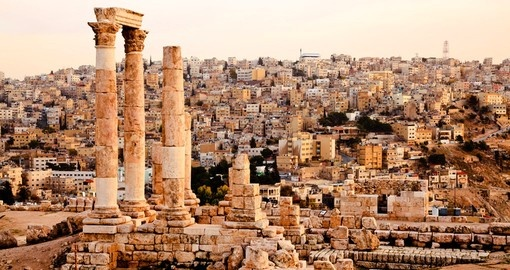 Temple of Hercules on the citadel in Amman