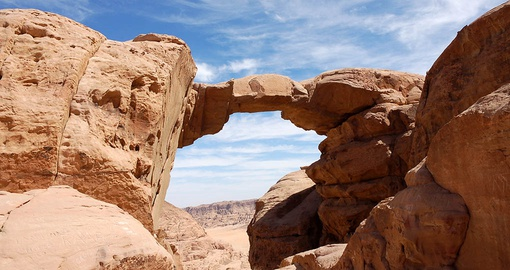 Trek through the deserts of Wadi Rum on your Jordan tour