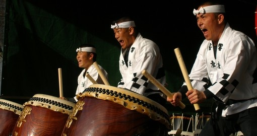 The famous Japanese drummers - a great inclusion on all trips to Japan.