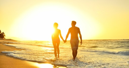 Couple enjoying romantic honeymoon