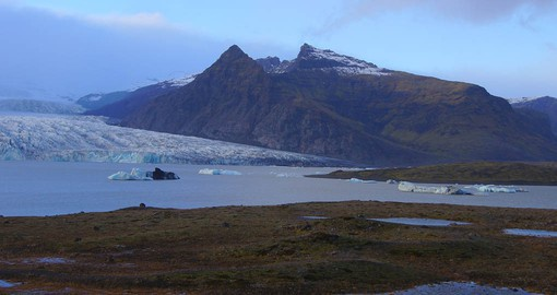 Vatnajokull is the largest glacier in Europe, covering 8% of Iceland's landmass