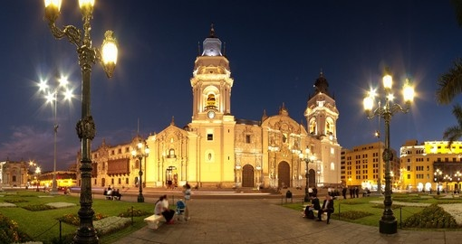 A Lima landmark, the Basilica Cathedral, is a great photo opportunity on your Peru vacation