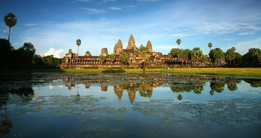 Angkor Wat Temple near Siem Reap is a must inclusion on all Cambodia tours.