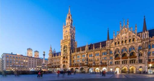 Continue your trip to Germany with a stop in Munich and visit to Marienplatz