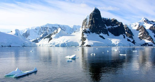 Steep-side Lemaire Channel divides Booth Island and the Antarctic Peninsula