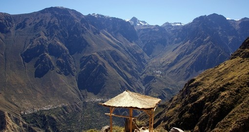 Colca Canyon, one of the deepest canyons in the world, Peru