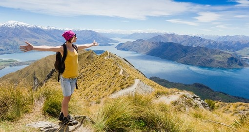 Go for a hike and enjoy the view of Lake Wanaka and Mt Aspiring - both great photo opportunities on New Zealand vacations