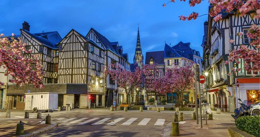 Rouen is renown for it's imposing Gothic Cathedral and beautifully restored medieval quarter