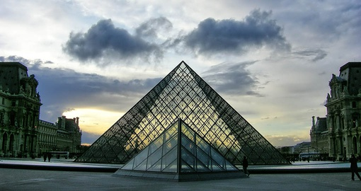 The Louvre at sunrise