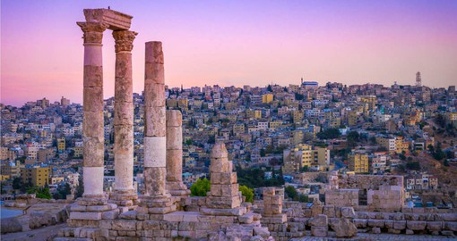 First stop on your Jordan Vacation is Amman and the Roman Ruins in Citadel Park