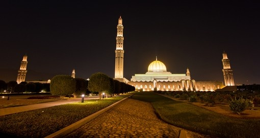 Sultan Qaboos Grand Mosque is a popular inclusion on many Oman tours.