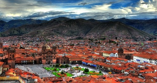 Ancient Cusco, once the capital of the Incan Empire