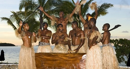 Enjoy a Fijian Warrior show on your Fiji vacation