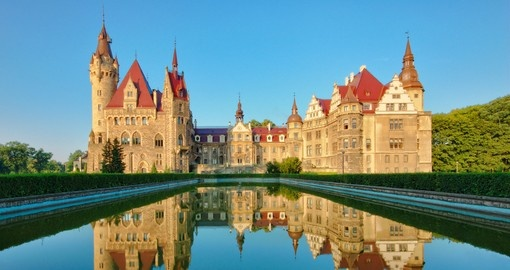 Moszna Castle is always a popular inclusion on Poland tours.