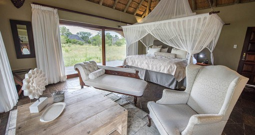 Kambaku River Sands features 10 luxury thatched suites