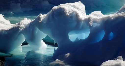 Experience the unique and beautiful Ice Caves on your Trip to Antarctica