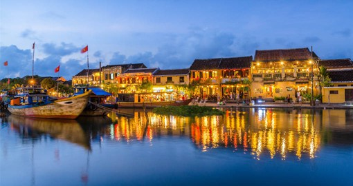 On the banks of the Thu Bon River in central Vietnam, Hoi An is one of the most beautiful towns in Southeast Asia