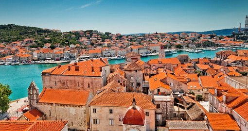 Historic rooftops of Trogir