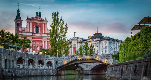 The carefully preserved historic buildings of Ljubljana are the backdrop of a modern, lively city
