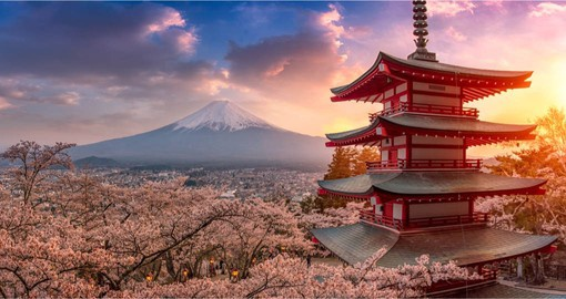 A perfectly shaped volcano, Mount Fuji has been worshiped as a sacred mountain for centuries