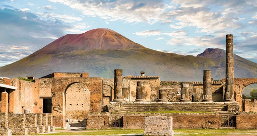 Pompeii, in the Italian region of Campania was completely buried in ash following the eruption of Mt. Vesuvius in 79 AD