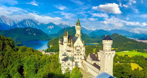 Your trip to Germany will visit King Ludwig II's iconic Neuschwanstein in the Bavarian Alps