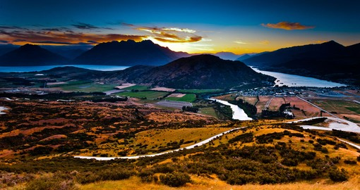 Aerial view of Queenstown New Zealand