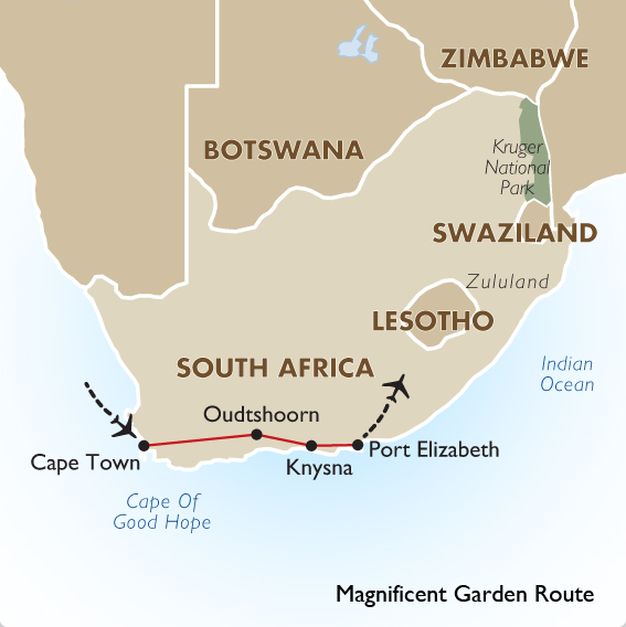 Magnificent garden route gold south africa tours goway - Cape town to port elizabeth itinerary ...