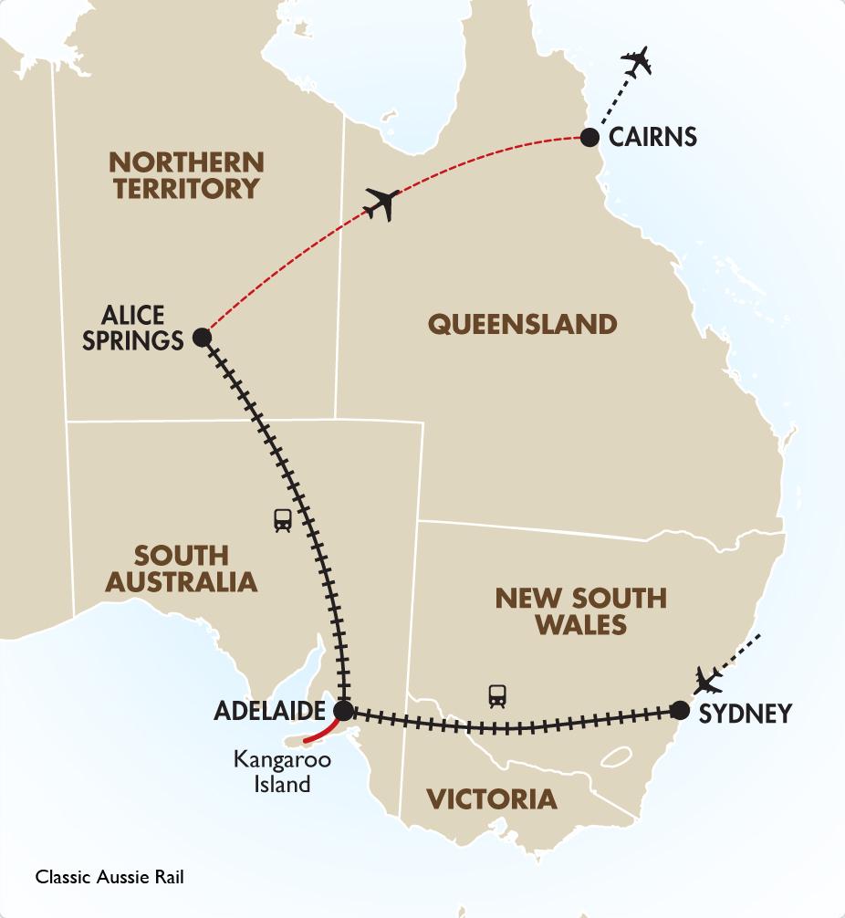 Australia South Pacific: Classic Aussie Rail Spectacular