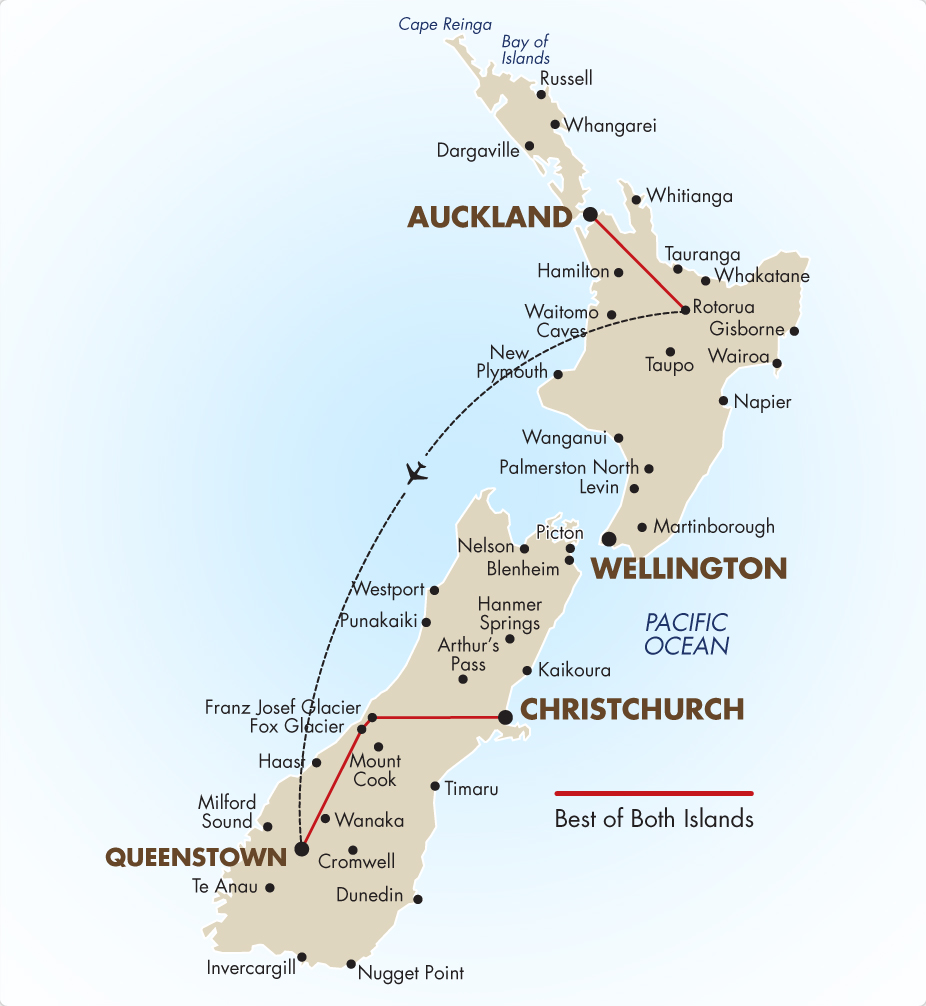 Australia South Pacific: Best Of Both Islands Self Drive