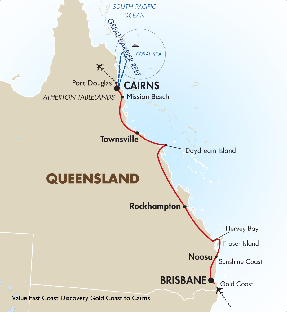 Australia South Pacific: Value East Coast Discovery - Gold Coast To Cairns