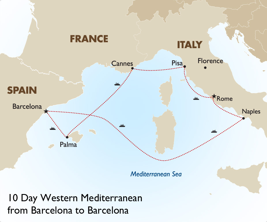Western Mediterranean Cruise European Tour Packages Goway Travel
