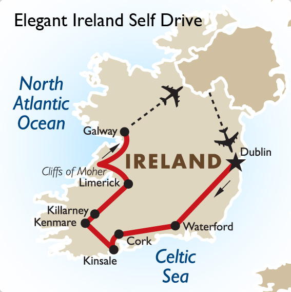 Day Self Drive Tour Of Ireland