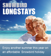 Enjoy another summer this year on an affordable Snowbird holiday.